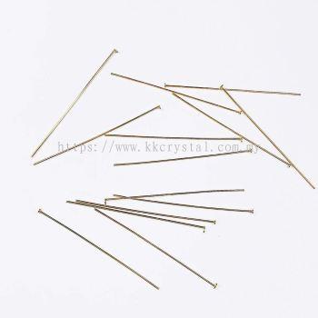 Head Pin, 08x50mm, Gold Plating