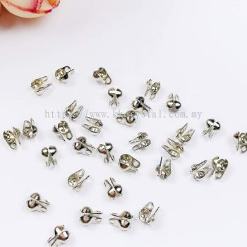 Beads Tip, Double Loop, Plated, 019012