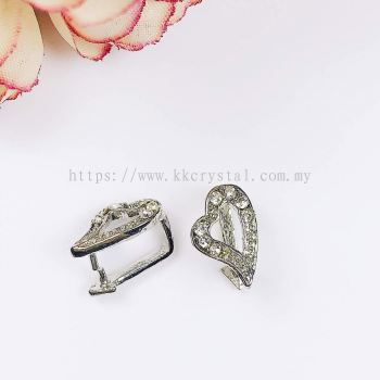 Pendant Clips, Love Style, Plated 020012, 10pcs/pack