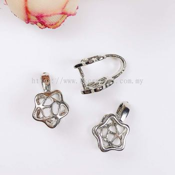 Pendant Clips, Star Style, Plated, 020012, 10pcs/pack