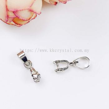 Pendant Clips, Little Star, Plated, 007013, 20pcs/pack