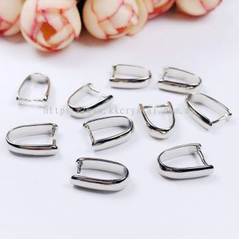 Pendant Clips, Pinch Style (Large), Plated, 013014, 12pcs/pack