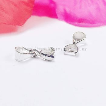 Pendant Clips, 3#, Silver Plating, 40pcs/pack