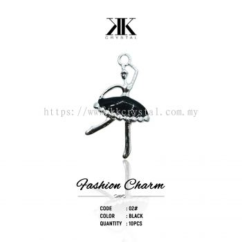 Fashion Charm, Code 02# Black, 10pcs/pack