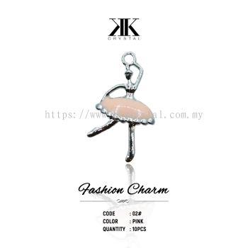 Fashion Charm, Code 02# Pink, 10pcs/pack