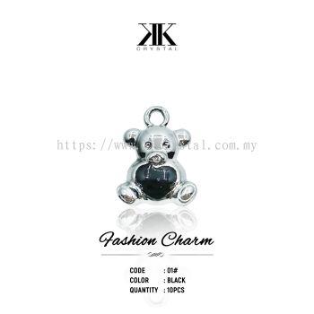 Fashion Charm, Code 01# Black, 10pcs/pack