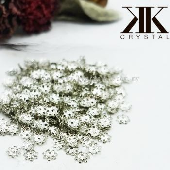 Beads Cap, X338/1, 6mm, Plated, 381013