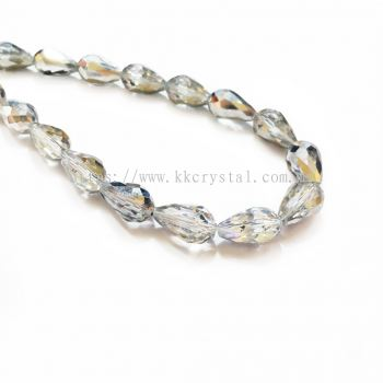 Crystal China, Teardrop 10mm, B75 Half Silver