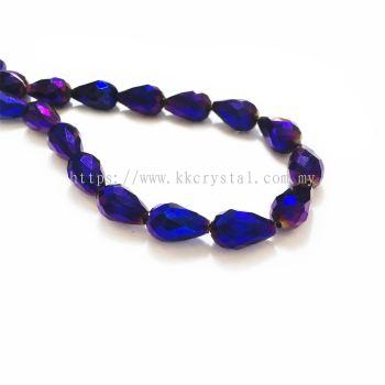 Crystal China, Teardrop 10mm, B81 Metalic Purple