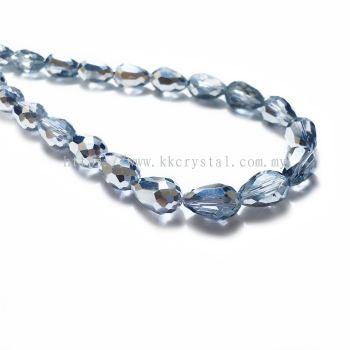 Crystal China, Teardrop 08mm, B75 Half Silver