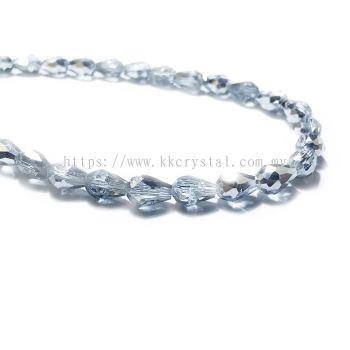 Crystal China, Teardrop 06mm, B75 Half Silver