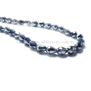Crystal China, Teardrop 06mm, B78 Metalic Silver