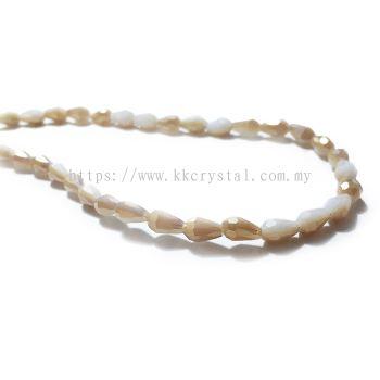 Crystal China, Teardrop 04mm, B287 Golden Shadow Alabaster AB