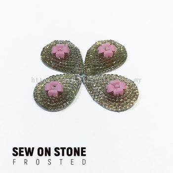 Sew On Stone, Frosted Print, 06# Teardrop, 16x23mm, Color 81#, 4pcs/pack (BUY 1 GET 1 FREE)