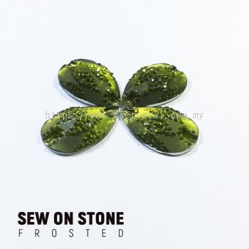 Sew On Stone, Frosted Print, 02# Teardrop, 15x22mm, Color 04#, 4pcs/pack (BUY 1 GET 1 FREE)