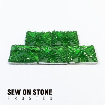 Sew On Stone, Frosted Print, 01# Square, 14x14mm, Color 20#, 5pcs/pack (BUY 1 GET 1 FREE)