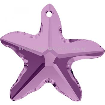 Swarovski 6721 Starfish Pendant, 20mm, Light Amethyst (212), 1pcs/pack