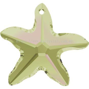 Swarovski 6721 Starfish Pendant, 20mm, Crystal Luminous Green (001 LUMG), 1pcs/pack