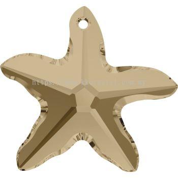 Swarovski 6721 Starfish Pendant, 20mm, Crystal Golden Shadow (001 GSHA), 1pcs/pack