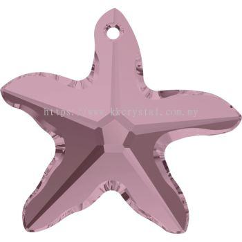 Swarovski 6721 Starfish Pendant, 20mm, Crystal Antique Pink (001 ANTP), 1pcs/pack