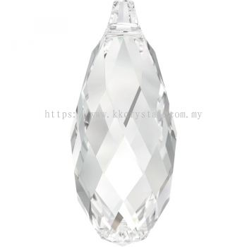 , 1pcs/packSwarovski 6010 Briolette Pendant, 13x6.5mm, Crystal (001), 1pcs/pack (BUY 1 FREE 1)