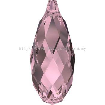 Swarovski 6010 Briolette Pendants, 11x5.5mm, Crystal Antique Pink (001 ANTP), 2pcs/pack (BUY 1 FREE 1)