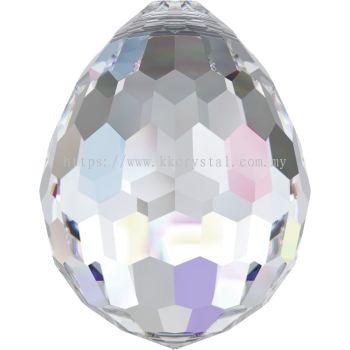 Swarovski 6002 Oval Disco Pendant, 15x11.5mm, Crystal AB (001 AB), 1pcs/pack