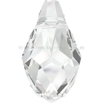 Swarovski 6007 Small Briolette Pendant, 7x4mm, Crystal (001), 2pcs/pack