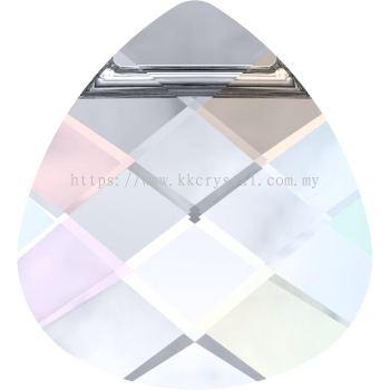 Swarovski 6012 Flat Briolette Pendant, 15.4x14mm, Crystal AB (001 AB), 1pcs/pack