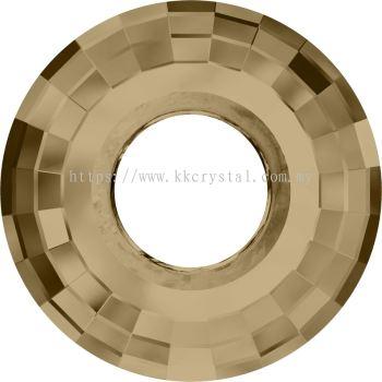 Swarovski 6039 Disk Pendant, 38mm, Crystal Golden Shadow (001 GSHA), 1pcs/pack