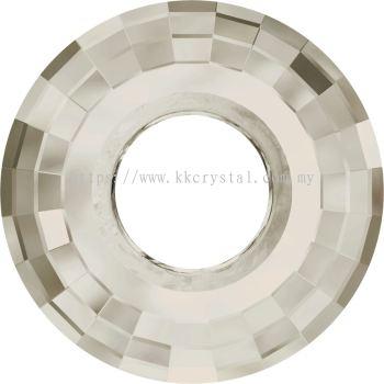 Swarovski 6039 Disk Pendant, 38mm, Crystal Silver Shade (001 SSHA), 1pcs/pack