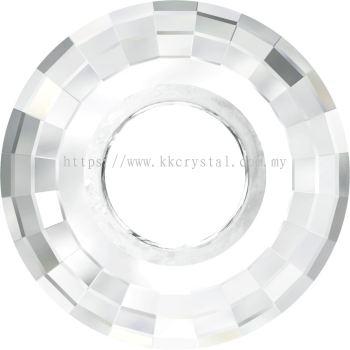 Swarovski 6039 Disk Pendant, 38mm, Crystal (001), 1pcs/pack