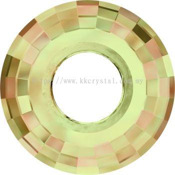 Swarovski 6039 Disk Pendant, 25mm, Crystal Luminous Green (001 LUMG), 1pcs/pack