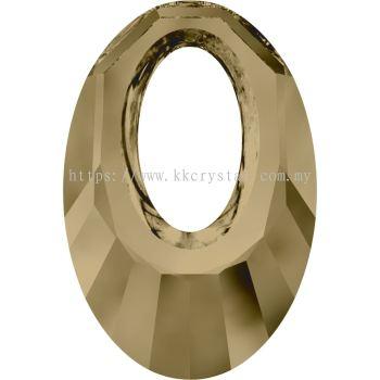 Swarovski 6040 Helios Pendant, 20mm, Crystal Bronze Shade (001 BRSH), 1pcs/pack