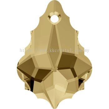 Swarovski 6090 Baroque Pendant, 22x15mm, Light Colorado Topaz (246), 1pcs/pack