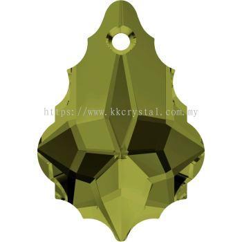 Swarovski 6090 Baroque Pendant, 22x15mm, Olivine (228), 1pcs/pack