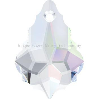Swarovski 6090 Baroque Pendant, 22x15mm, Crystal AB (001 AB), 1pcs/pack