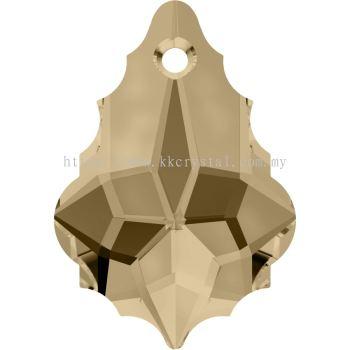 Swarovski 6090 Baroque Pendant, 16x11mm, Crystal Golden Shadow (001 GSHA), 1pcs/pack