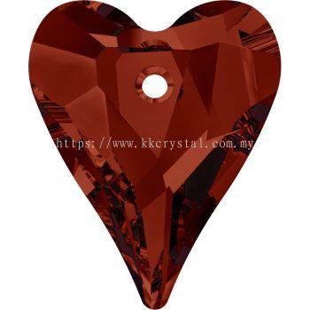 Swarovski 6240 Wild Heart Pendant, 17mm, Crystal Red Magma (001 REDM), 1pcs/pack