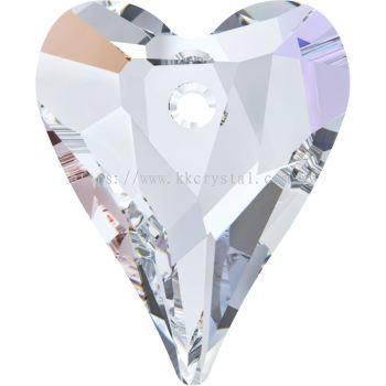 Swarovski 6240 Wild Heart Pendant, 17mm, Crystal AB (001 AB), 1pcs/pack