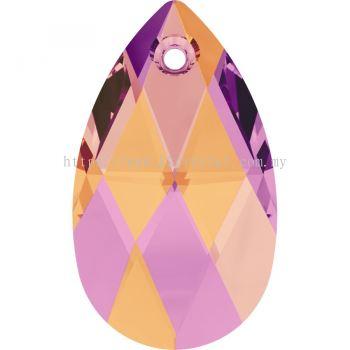 Swarovski 6106 Pear Pendant, 28mm, Crystal Astral Pink (001 API), 1pcs/pack