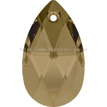 Swarovski 6106 Pear Pendant, 28mm, Crystal Bronze Shade (001 BRSH), 1pcs/pack