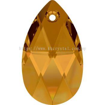 Swarovski 6106 Pear Pendant, 28mm, Crystal Copper (001 COP), 1pcs/pack