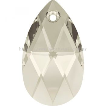 Swarovski 6106 Pear Pendant, 28mm, Crystal Silver Shade (001 SSHA), 1pcs/pack