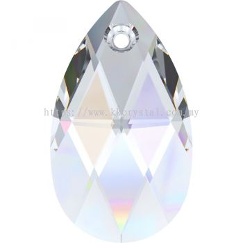 Swarovski 6106 Pear Pendant, 28mm, Crystal AB (001 AB), 1pcs/pack