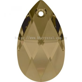Swarovski 6106 Pear Pendant, 22mm, Crystal Bronze Shade (001 BRSH), 1pcs/pack