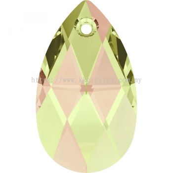 Swarovski 6106 Pear Pendant, 22mm, Crystal Luminous Green (001 LUMG), 1pcs/pack