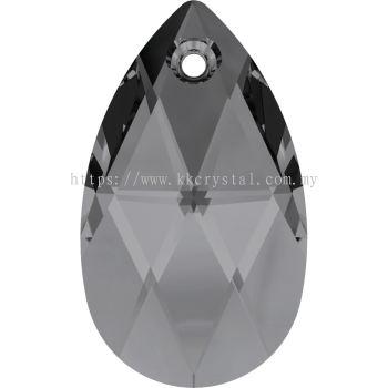 Swarovski 6106 Pear Pendant, 22mm, Crystal Silver Night (001 SINI), 1pcs/pack