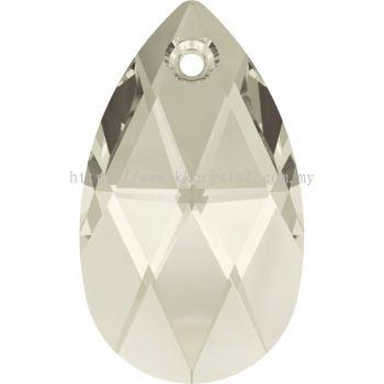 Swarovski 6106 Pear Pendant, 16mm, Crystal Silver Shade (001 SSHA), 1pcs/pack