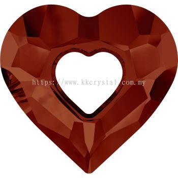 Swarovski 6262 Miss U Heart Pendant, 26mm, Crystal Red Magma (001 REDM), 1pcs/pack